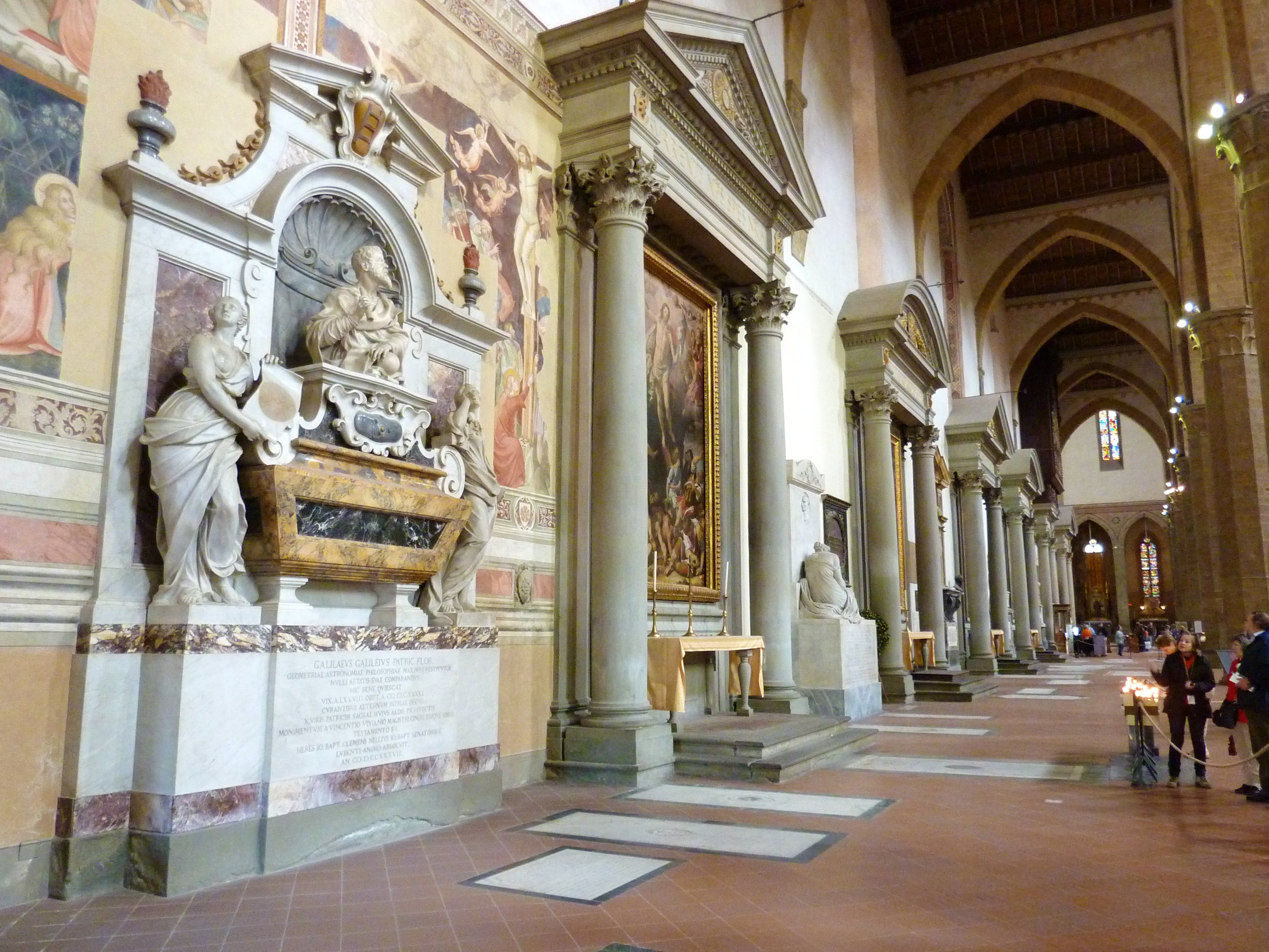 santa croce church in florence italy and museum complex of santa
