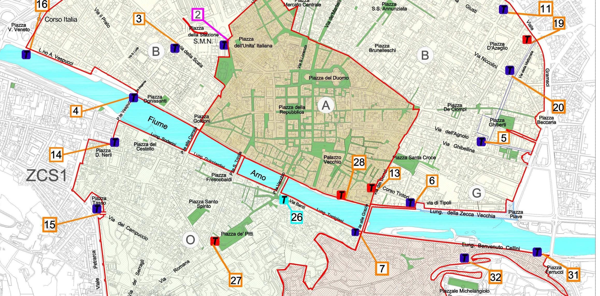 The ZTL in Florence Restricted Traffic Zone in Florence