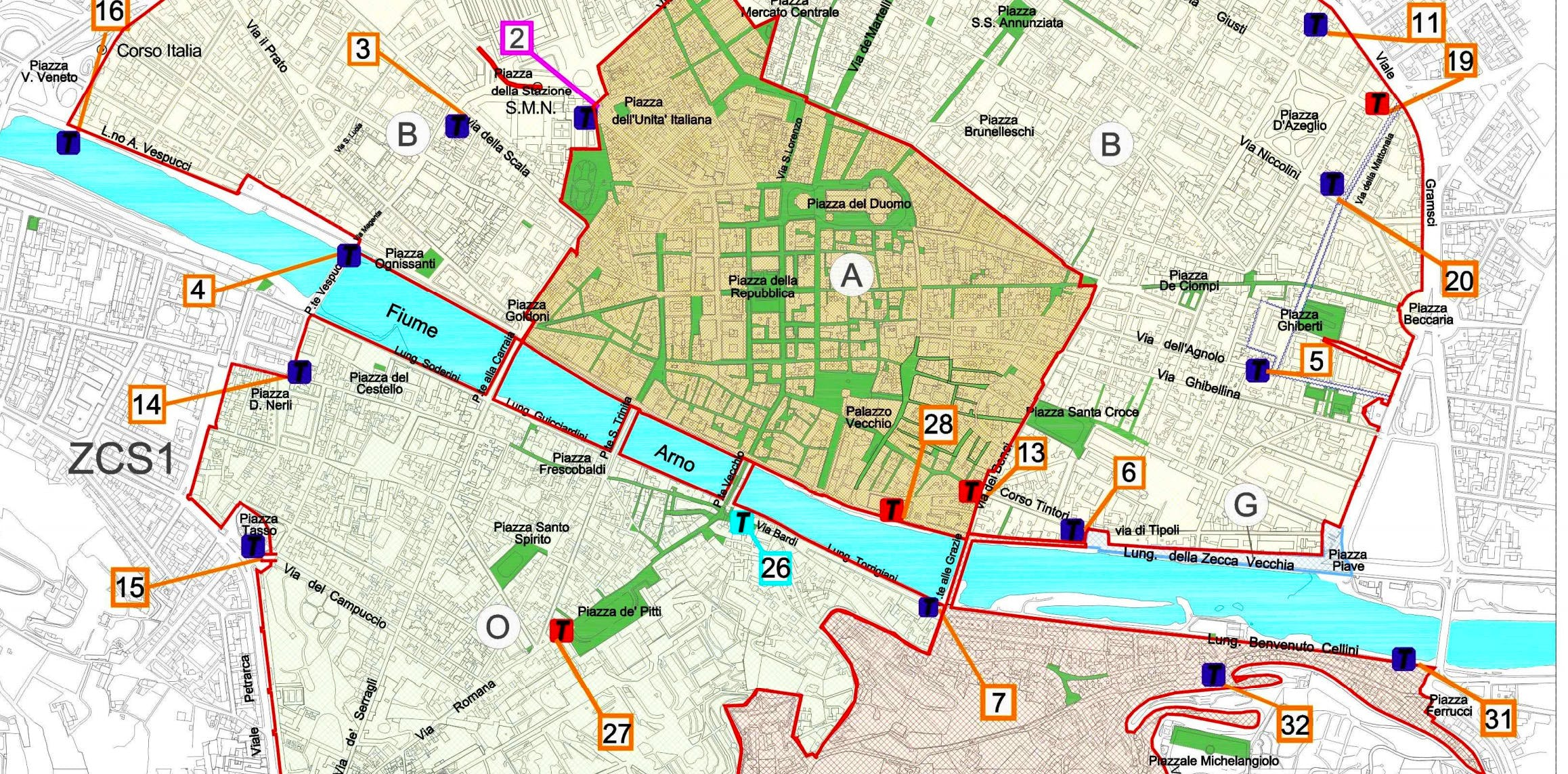 The ZTL In Florence Restricted Traffic Zone