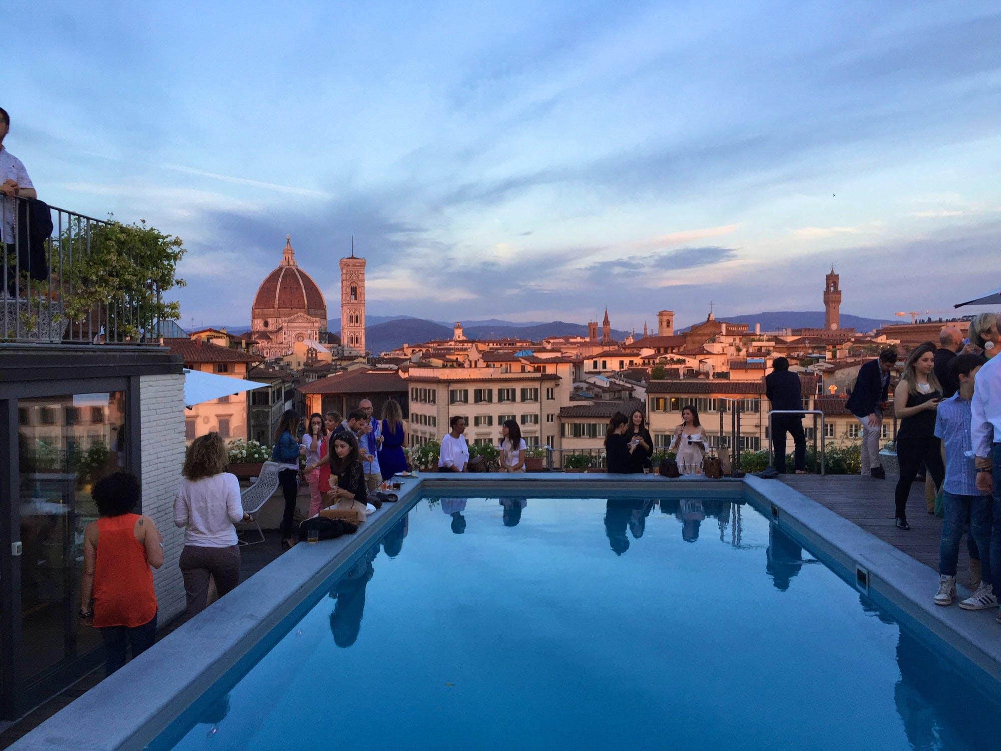 Vedute Di Firenze Dall Alto Cocktail Con Vista Su Firenze